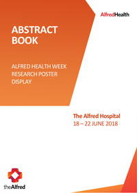 Abstract Book Alfred Health Week Research Poster Display 2018