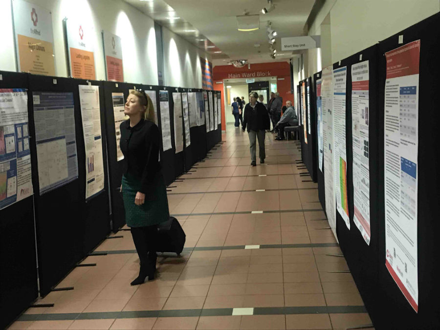 Researchers from across the Alfred Precinct showcased their work at the 2018 Research Poster Display in the corridors of The Alfred