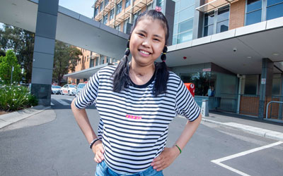 Thuong Mai after her successful lung and kidney transplants at The Alfred.